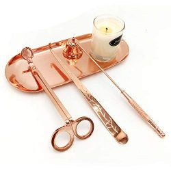 Premium Candle Accessory Set ,Candle Wick Trimmer, Candle Wick Dipper, Candle Wick Snuffer, Stor ...