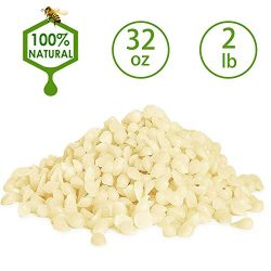 YUCH Organic Beeswax Pearls – White. All Natural. 2 lb