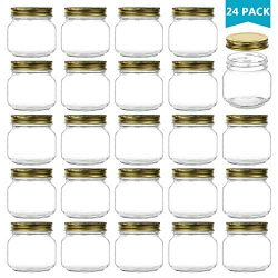Encheng 8 oz Glass Jars With Lids,Ball Wide Mouth Mason Jars For Storage,Canning Jars For Caviar ...