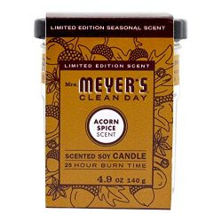 Mrs. Meyer's – Clean Day Scented Soy Candle Acorn Spice – 4.9 oz.