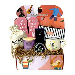 Gift Box for Mother by Silly Obsessions. Birthday Gift Basket for Mom, Wife. Gift Box Set for Ne ...
