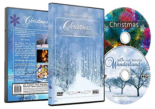 Christmas DVD – Christmas Collection Videos of Falling Snow, Christmas Lights & Fireplaces
