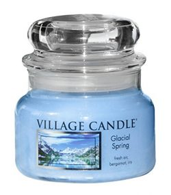 Village Candle Glacial Spring 11 oz Glass Jar Scented Candle, Small,