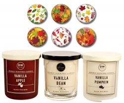 DW Home Autumn Fall Candles – Vanilla Apple, Vanilla Bean & Vanilla Pumpkin – Li ...