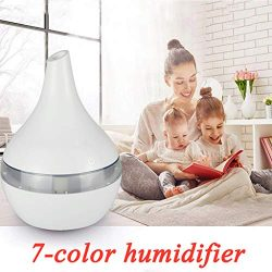 AIUSD Clearance , Air Aroma Essential Oil Diffuser LED Ultrasonic Aroma Aromatherapy Humidifier