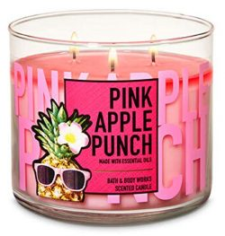 Bath & Body Works 3 Wick Candle, Pink Apple Punch