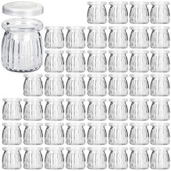 Glass Jars, KAMOTA 40 PACK 6oz Yogurt Jars With PE Lids, Glass Pudding Jars Yogurt Jars Ideal fo ...