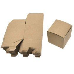 Iusun 50PCS Kraft Paper Box Folding Candy Box Christmas Wedding Candy Box Cupcake Boxes 5x5x5CM  ...