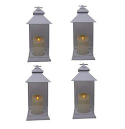 Just in Time for Spring {4 Pc Set} 12.5″ Decorative Lanterns with Flameless LED Lighted Ca ...