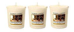Yankee Candle Lot of 3 Winter Wonder Sampler Votive Candles 1.75 oz Each
