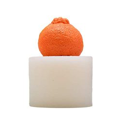 Hot Sale!DEESEE(TM) 3D Ugly Orange Silicone Molds Soap Mold DIY Fruit Cake Aromatherapy Candle Mold