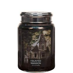 Village Candle Haunted Mansion 26 oz Glass Jar Scented Candle, Large