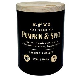 Pumpkin and Spice Scented Candle with Black Wax