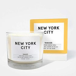 Homesick 3 Wick Scented Candle, Soy Wax – 27.5 oz (90 to 110 hrs Burn Time), New York City