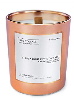 Benevolence LA Scented Candles Soy Candles – Aromatherapy Candles Relaxing Candles Rose Go ...