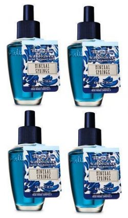 Bath and Body Works 4 Pack Mineral Springs Wallflowers Fragrance Refill. 0.8 fl oz.