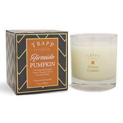Trapp Seasonal Collection Home Fragrance 7oz Large Poured Scented Candle – Fireside Pumpkin
