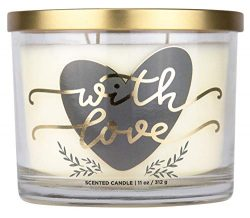 "Aromascape ""with Love"" 3-Wick Scented Candle (Fresh Lavender, Cotton Blossom and Van ..."