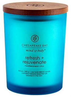 Chesapeake Bay Candle Scented Candle, Refresh + Rejuvenate (Mediterranean Citrus), Medium