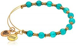 Alex and Ani Women's Harbor Bangle Marina/Gold One Size