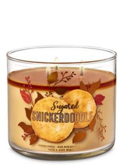White Barn Bath & Body Works 3 Wick Candle Sugared Snickerdoodle