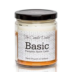 Basic- Fun and Funny – Pumpkin Spice Latte Fall Candle- Hand Poured in Indiana –
