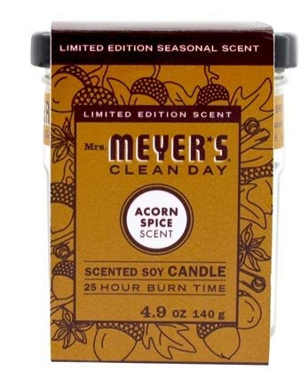 (Pack of 2) Mrs. Meyer's Clean Day Acorn Spice Scented Soy Candle – 4.9 oz.