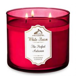 Bath and Body Works The Perfect Autumn – White Barn Large 14.5 Ounce 3-Wick Candle – ...