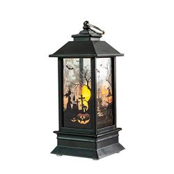 Dergo ☀Halloween Candle, 1 pcs Halloween Candle with LED Tea Light Candles for Halloween Decorat ...