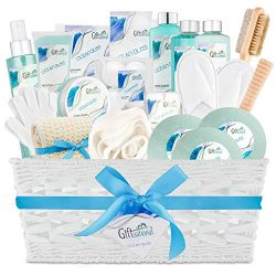 Ocean Bliss Extra Large Spa Bath Gift Basket, Best Mother's Day Gift, Includes 3 Bath Bomb ...
