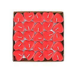 YMOON 50 Pack Heart Shaped Unscented Tea Lights Candles – Smokeless Tealight Candles ̵ ...