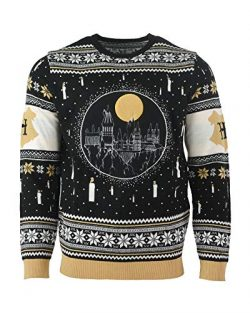 Harry Potter Ugly Christmas Sweater Hogwarts Castle Candles LED Light Up for Men Women Boys and  ...