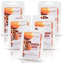 The Candle Daddy Pumpkin Spice Maximum Scent Wax Cubes/Melts- 5 Packs -10 Ounces Total- 30 Cubes