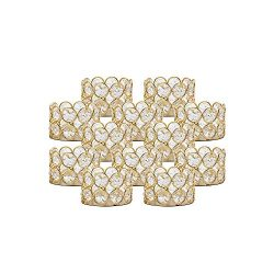 VINCIGANT Pack of 12 Gold Tea Light Candle Holders for Wedding Home Table Centerpiece Decor