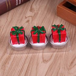 Chenway Christmas Candles Tealight Burning Candles Artwork Window Ornaments Christmas Party Deco ...