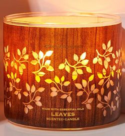 Bath & Body Works 3-Wick Luminary Autumn Scented Candles (Leaves)