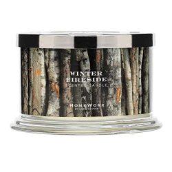 HomeWorx by Harry Slatkin 4 Wick Candle, 18 oz, Winter Fireside