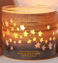 Bath & Body Works 3-Wick Luminary Autumn Scented Candles (Apple Weather)