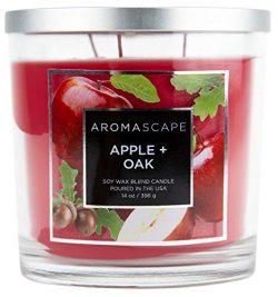 Aromascape 3-Wick Scented Jar Candle, Apple & Oak