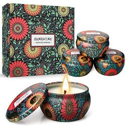 Y YUEGANG Scented Candles Gift Set for Women, Natural Soy Wax Aromatherapy Candles, 6 Oz Portabl ...