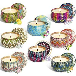 WAEKIYTL Scented Candles Gift Set of 8 100% Soy Candles – Natural Organic Soy Wax Candles  ...