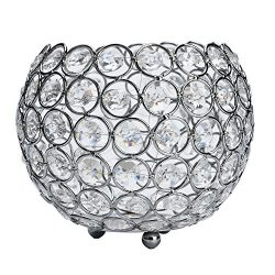 Anferstore Father's Day Valentines Day Crystal Tea Light Candle Holders/Candle Shade Weddi ...