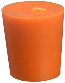 Zest Candle 12-Piece Votive Candles, Orange