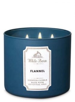 White Barn Bath & Body Works 3 Wick Candle Flannel