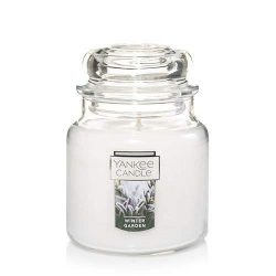 Yankee candles co., Winter Garden Medium Jar Candle, Festive Scent
