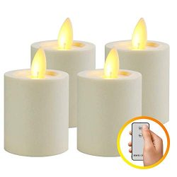 MaLivent Flameless Candles 4 Pack, Battery Operated Led Candles, Electric Candle Flameless Candl ...