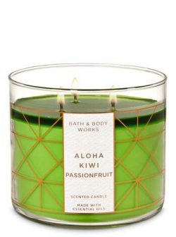 White Barn Bath & Body Works 3 Wick Aloha Kiwi Passionfruit