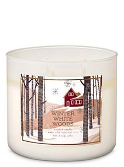 Bath and Body Works Winter White Woods 3-Wick Scented Candle 14.5 oz