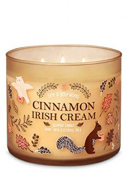 Bath and Body Works White Barn Cinnamon Irish Cream 3 Wick Candle 14.5oz 2019