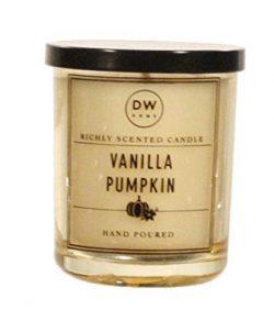 DW Home Vanilla Pumpkin Candle 4 Ounce Travel Size – for Fall Autumn Halloween Thanksgivin ...